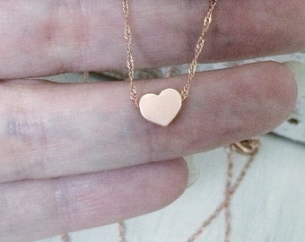Rose Gold Tiny Heart Necklace friend friendship necklace mothers necklace mom momlife