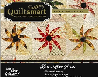 BLACK EYED SUSAN - No Curved Piecing Applique Method   Snuggler Pack Containing 4 Panels By:  Quiltsmart