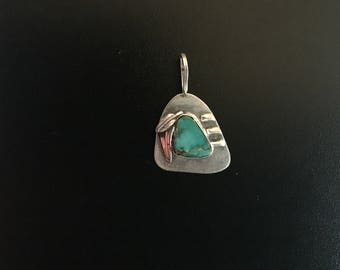 Sterling Silver with Turquoise Pendant