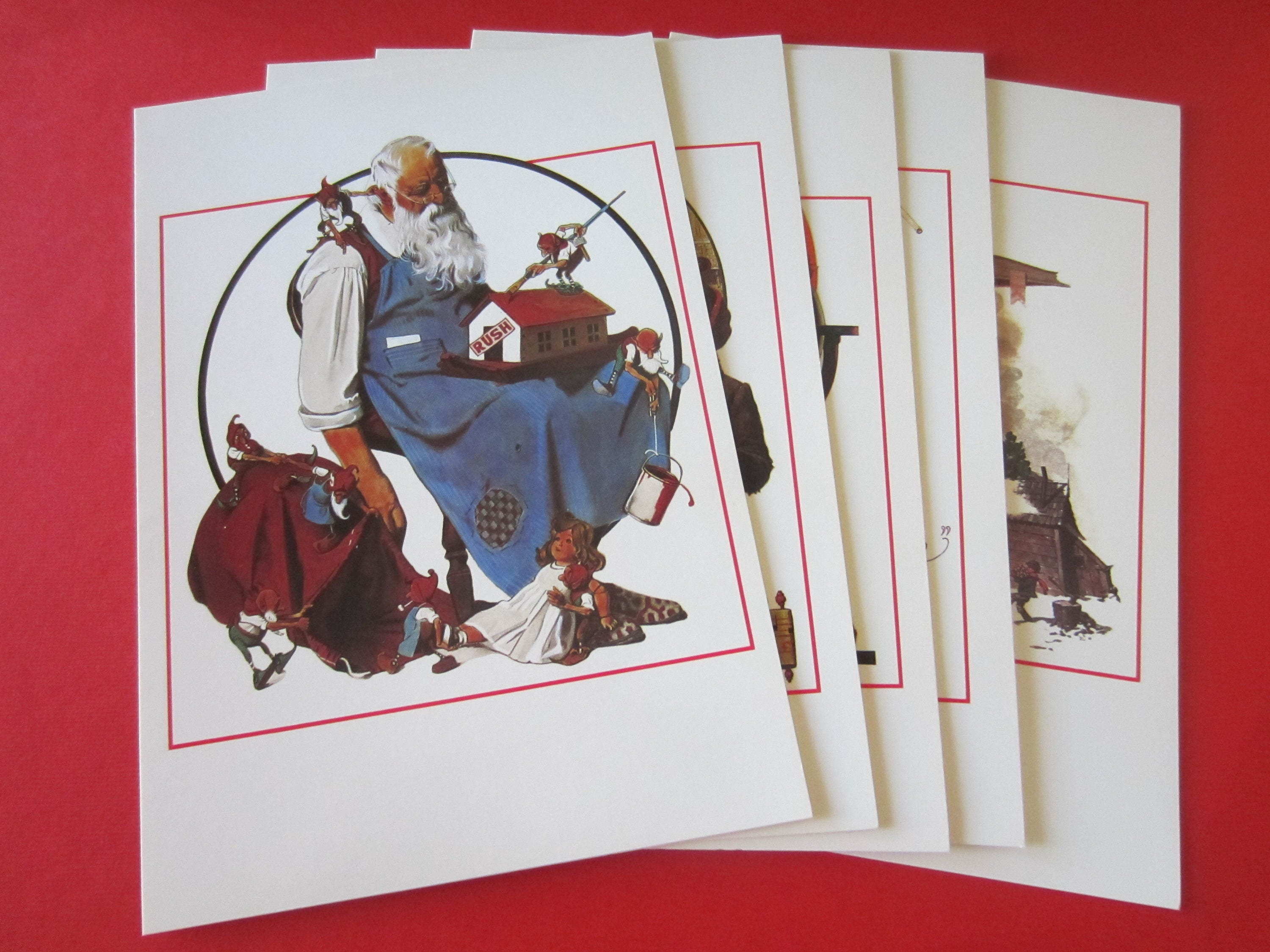 Vintage Norman Rockwell Christmas cards 1993 American Classics