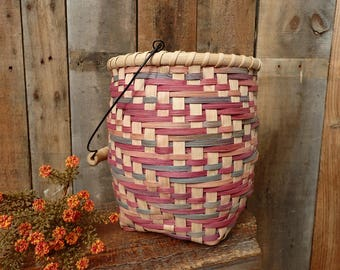 Handwoven Space Dyed Twill Basket