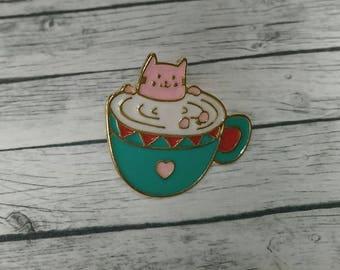 Cat Pin // Cat Enamel Lapel Pin // Hard Lapel Pin
