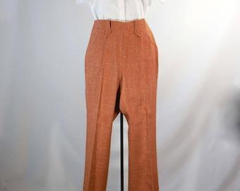 """Vintage 1960s western pants women's wool pants Lasso tailored western wear boot leg pants size small 29.75"""" x 29.75"""""""