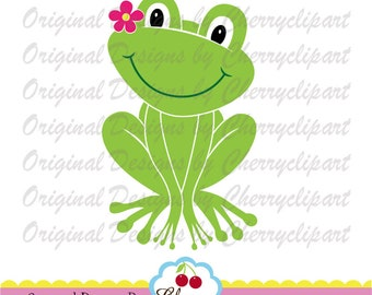SVG,Dxf cut design,Frog with flower svg,Frog svg dxf, Easter SVG Silhouette Cut Files, Cricut Cut Files EAS20