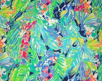 New Spring Cotton dobby Purrfect fabric 2 sizes  ~Authentic Lilly Pulitzer fabric~