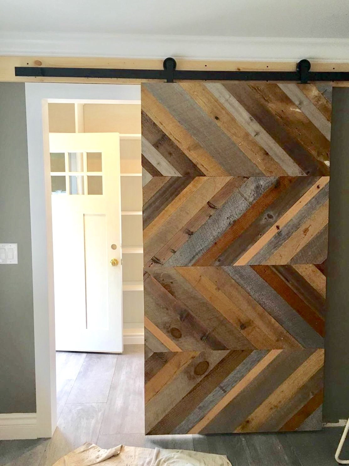 reclaimed barn diy double doors door barns under pantry bifold pin