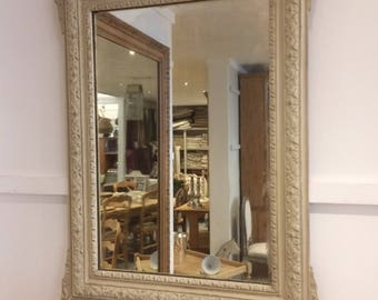 Vintage French Painted Mirror