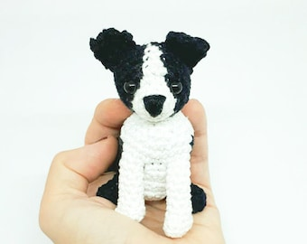 Boston Terrier, amigurumi, crochet dog, Boston Terrier stuffed animal, amigurumi Boston Terrier, Boston Terrier plush