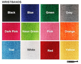 6 Pair Wrist Sweatbands Terry Cotton Sports Sweat Absorbing Workout Bands  Band Blanks to Design Your
