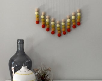 Wall Hangings / Wall Decor / Felt Ball Hanging / Wall Hanging / Custom Made / Felt Ball Wall Art