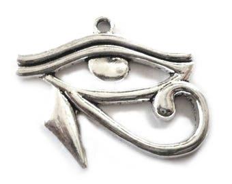 Eye of Ra Pendant, Eye of Horus Pendants from Silver Tone Metal, Egyptian Pendants - Packs of Ten