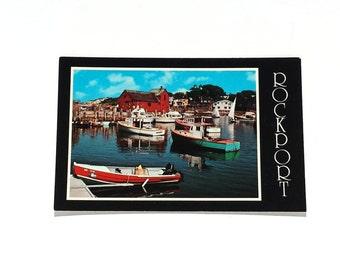 Rockport Harbor Massachusetts Motif Number One seen from Bearskin Neck Vintage Travel Postcard presented by Donellensvintage