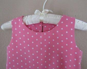 Girls Pink Sleeveless Dress