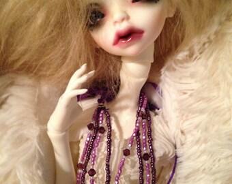Dark Lavender & Mauve Necklace