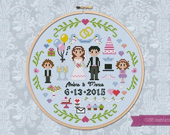 Wedding Sampler - Cross stitch PDF pattern