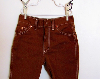 Vintage Cutoff Brown Denim Shorts Size 12
