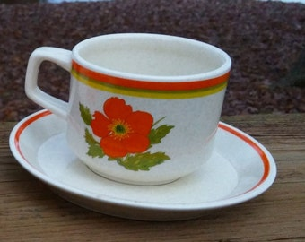 Fire Flower Temper-Ware by Lenox Cup and Saucer Set/Microwave Oven Safe  Freezer to Oven to Table to Dishwasher