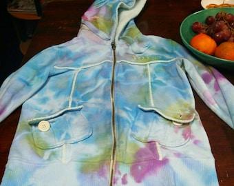 Tie dye fox hoodie
