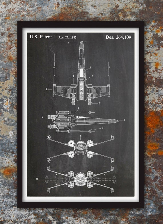 X wing fighter star wars wall patent print patent art star x wing fighter star wars wall patent print patent art star wars poster star wars blueprint star wars patent print plexity prints 122 malvernweather Gallery
