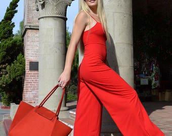 Leather Red Handbag