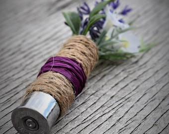 Twine and Raffia Wrapped Boutonniere