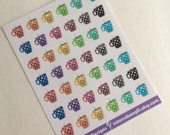 A99 - Coffee Cups - Planner Stickers - Erin Condren Happy Planner