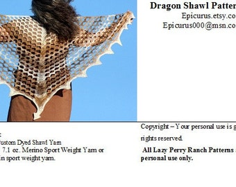 Crochet Shawl Pattern - Dragon Shawl