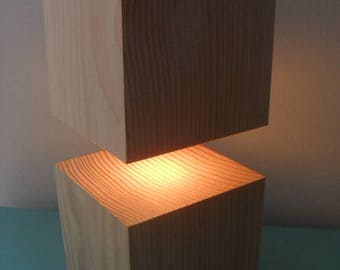 accent lamp / mood light / reclaimed wood lamp / desk lamp / table lamp / bedroom lamp / night table lamp / modern lamp