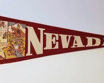 Nevada - Vintage Pennant