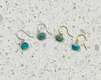 Turquoise Earrings - Gold or Silver