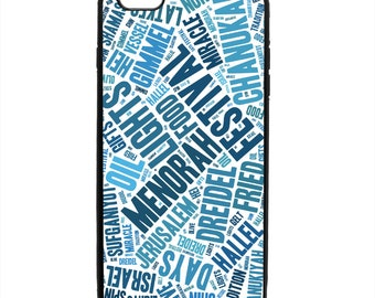 Hanukkah Festive Holiday Words Phone Case Samsung Galaxy S5 S6 S7 S8 S9 Note Edge iPhone 4 4S 5 5S 5C 6 6S 7 7S 8 8S X SE Plus