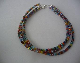 Multi Color/Multi Strand Beaded Bracelet