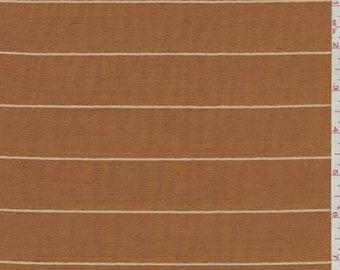 Golden Orange Pinstripe Shantung, Fabric By The Yard
