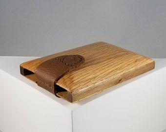 Wooden Wallet / Business Card Holder (Oak and Walnut)