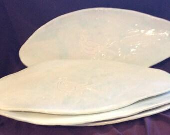 4 Handmade  in Greece Tapas Plates