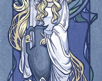 Galadriel Nouveau Medium Print (Item 03-016-BB)