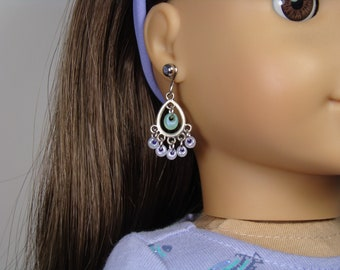 """Boho Style Earrings for 18"""" Play Dolls such as American Girl®"""