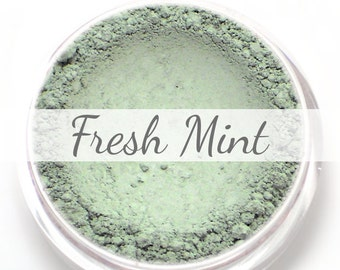 "Eyeshadow Sample - ""Fresh Mint"" - matte light mint green color - Vegan Mineral Makeup Pigment"