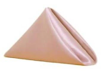 "20"" Satin pink napkins x 50"