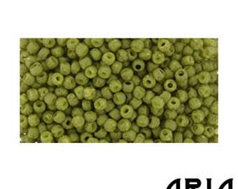 SEMI GLAZED OLIVE (2601F) : 11/o Toho Semi Glazed Japanese Seed Beads (10 grams)