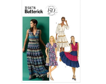 Butterick 5878 - Tiered Dresses (out of print)