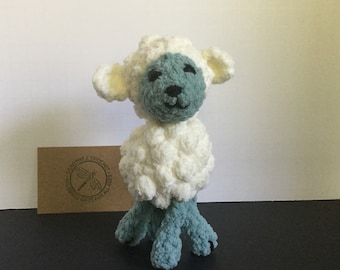 Crocheted, plush lamb, amigurumi