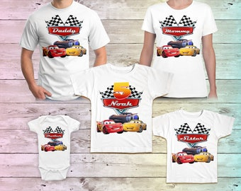 Cars Birthday Shirt, Lightning Mcqueen Family Birthday Tshirt, Cars Matching Shirts, Cars Mommy Birthday Party, Cars Daddy Birthday Shirt