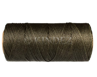 Waxed Cord, Linhasita Beading String, 15 meters/16 yards Beaded Jewelry Cord, Bookbinding - Dark Green