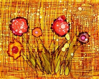 "Note card set ""Happy Flower Series"""