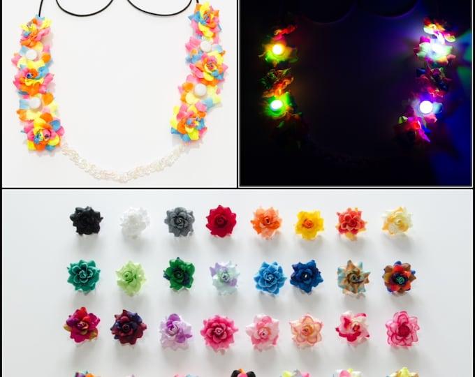 Customizable Rose LED Flower Crown