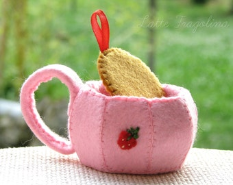 Teacup felt toys - Food toys for children,removable tea