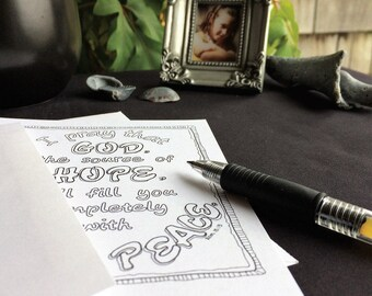 Prayer Coloring Cards - Set of 5 designs