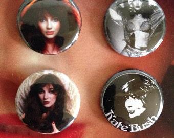 Kate Bush set of four 1 inch badges