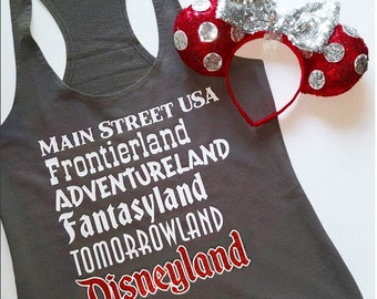 Disney Lands Tank! Main Street USA, Frontierland, Adventureland, Fantasyland, Tomorrowland! - Great For a Disneyland Vacation!